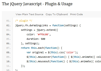 jQuery Navigation Menu Tutorial