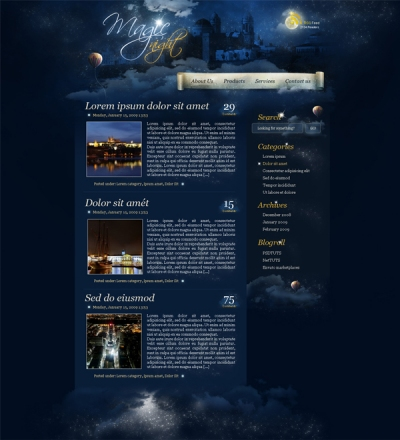 Magic Night Themed Website