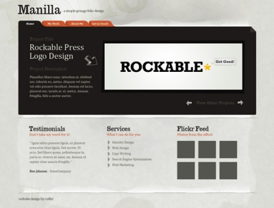 Creta a Web Design with Grungy Paper