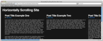 How to Create a Horizontally Scrolling Site