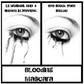 bleeding mascara