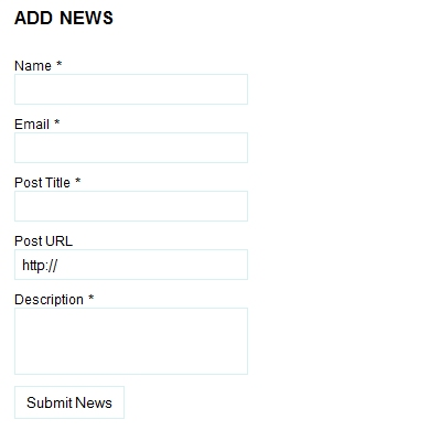 FV Community News Plugin