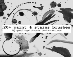 photoshop stains brushes