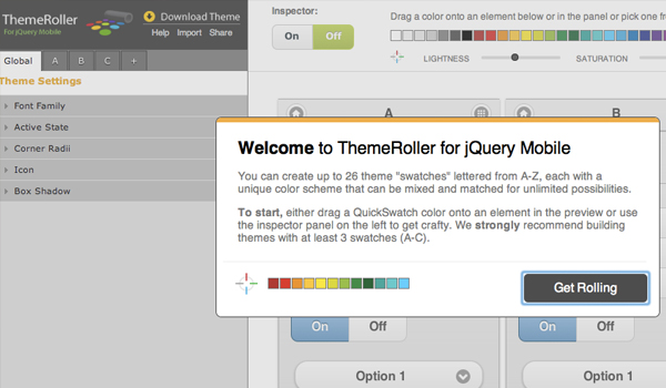 jQuery Theme Roller website