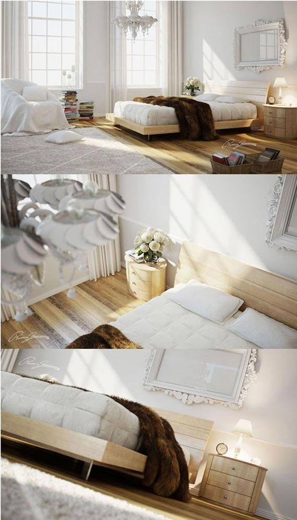 Bedroom-White-&amp;-Wood