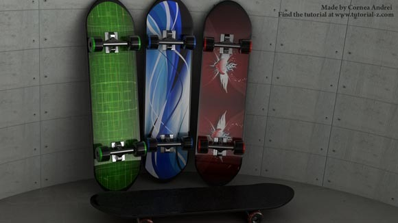 Skateboard-modeling-and-tex