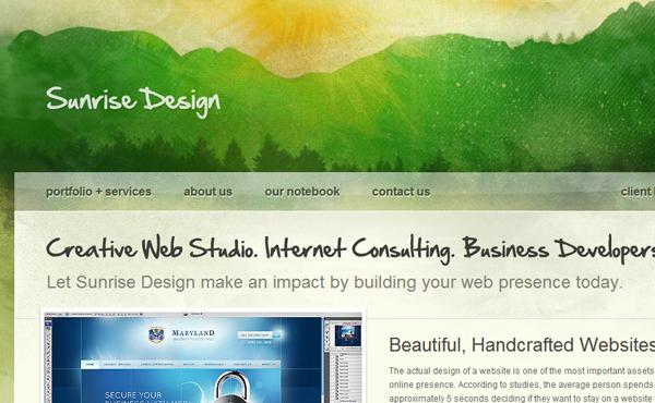 绿色网页设计 | 视觉中国 旗下创意社区-视觉me