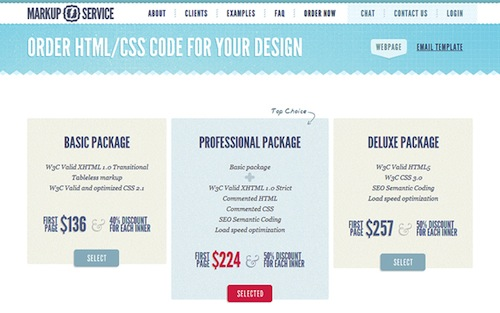 Awesome Giveaway of PSD to HTML Services from Markup-Service