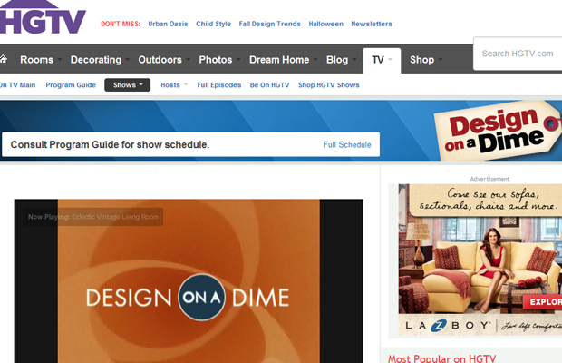 30 websites de s ries e programas de tv for Home and garden tv design on a dime