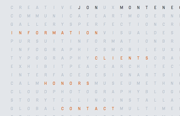 Jon Montenegro portfolio website design