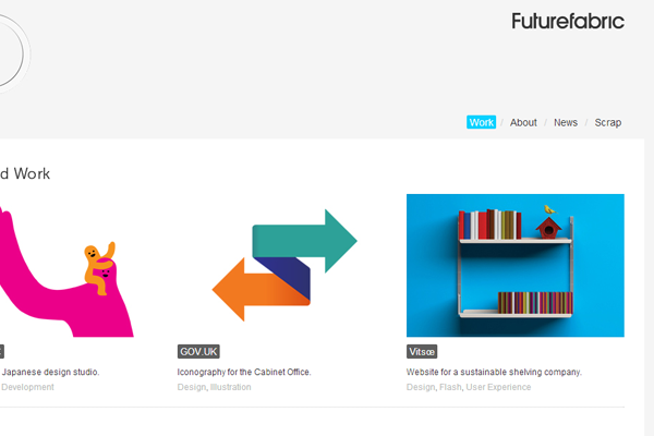 FutureFabric design website layout homepage