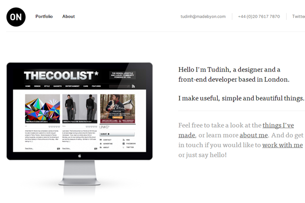 minimalist design agency portfolio ON websites