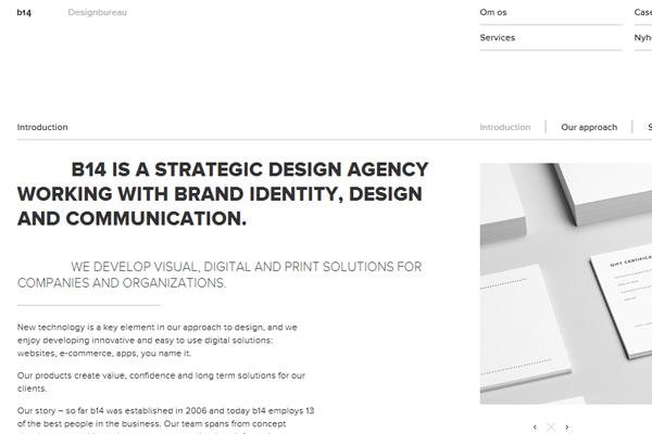 minimalist web design studio agency bureau B14