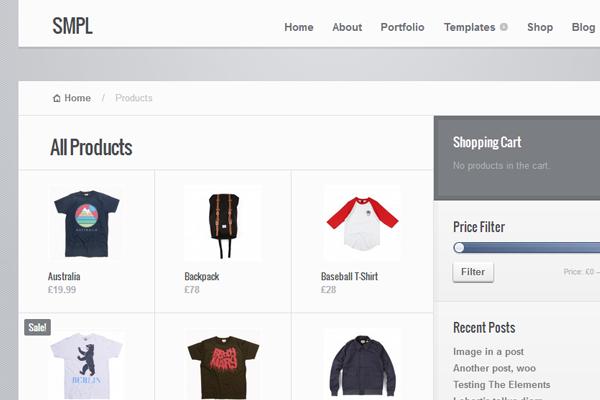 smpl simple WordPress eCommerce theme