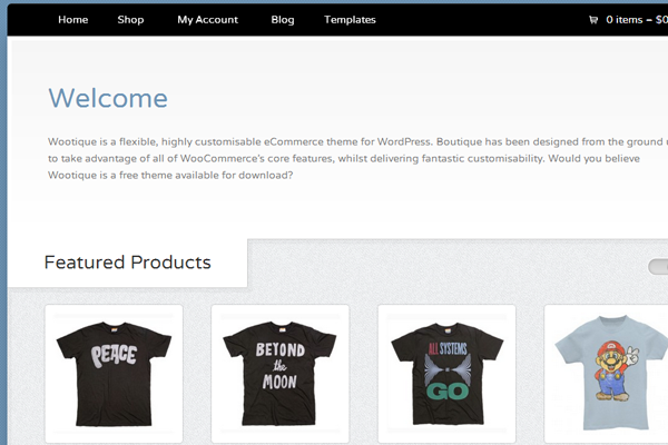 Wootique eCommerce online boutique theme