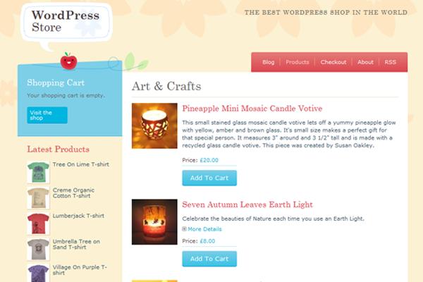 Hongkiat WordPress freebie theme Crafty Cart