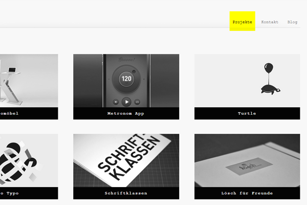 website design portfolio Reinert designer layout