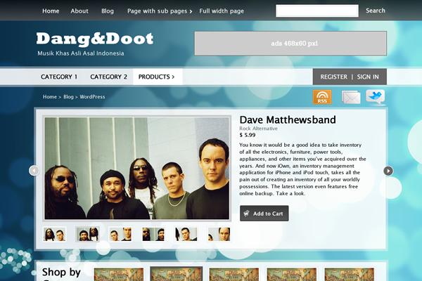 Dangdoot theme WordPress freebie download