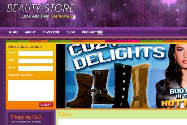 Wordpress freebie theme download beauty shop