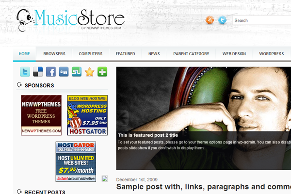 free downloads music store eCommerce theme WordPress