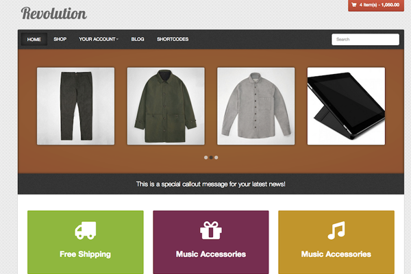 Wordpress free storefront theme download revolution