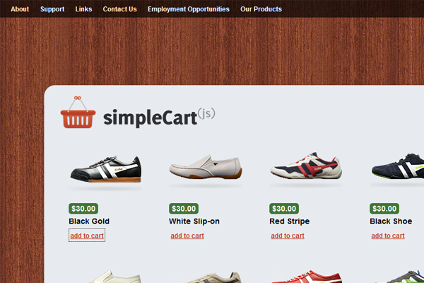 Simple Cart JavaScript WordPress freebie theme