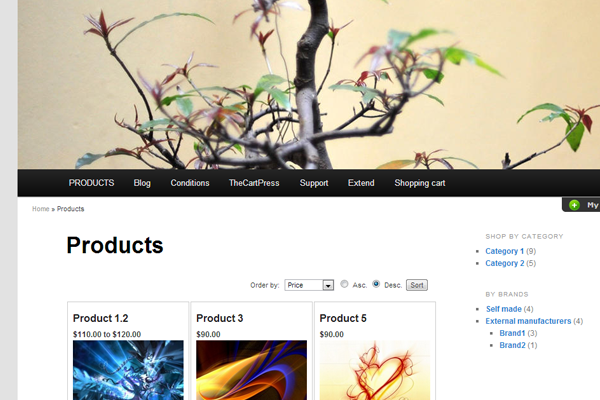 free WordPress themes download twentyeleven ecommerce shop