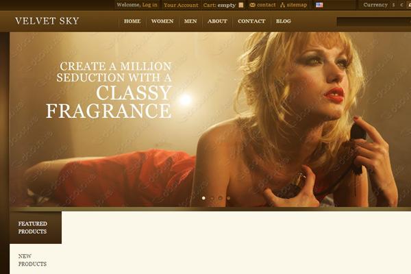 Velvet Sky freebie WordPress theme design