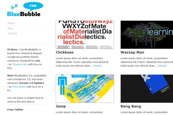 freebie WordPress theme download BlueBubble