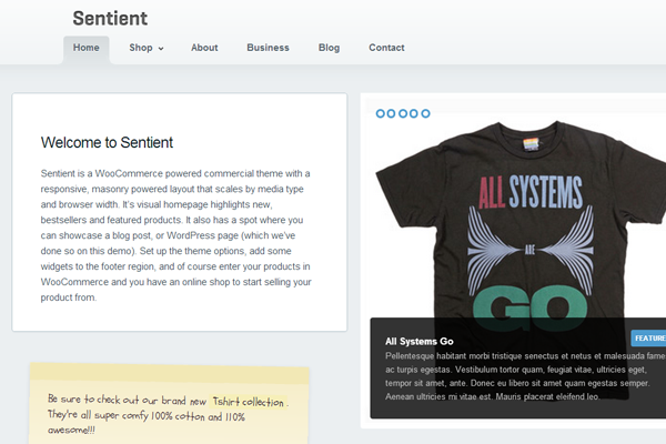 freebie WordPress themes Sentient download