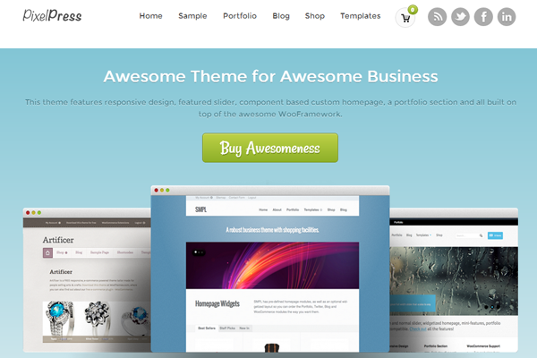 Wordpress themes freebie download PixelPress