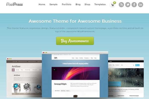 Wordpress themes freebie download PixelPress