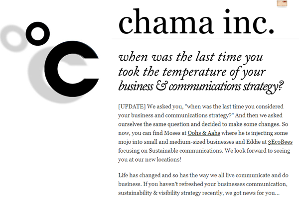 Chama Inc Business communication strategies