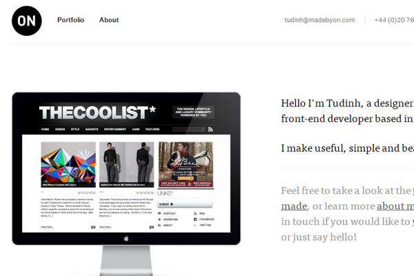 Tudinh Duong United Kingdom portfolio website ON studio