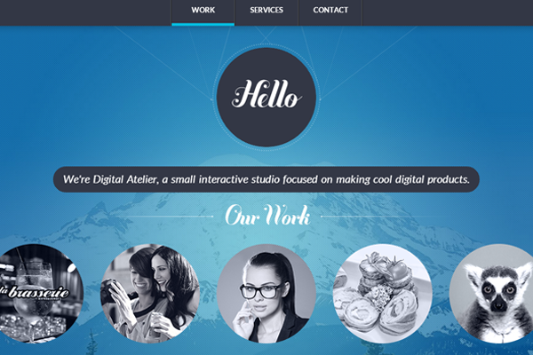 dark website whitespace layout design atelier