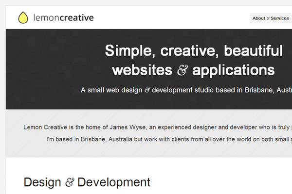 portfolio layout website minimalist lemon creatives