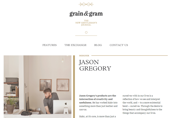 minimal website design interface layout grains