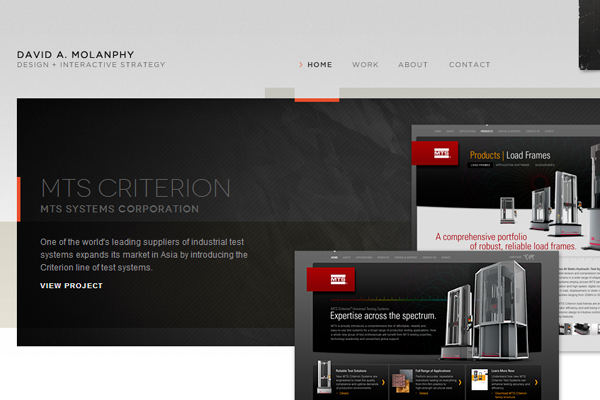 David Molanphy website portfolio design interface