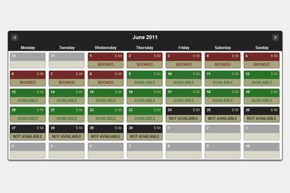Calendar Design Using Jquery : Useful jquery calendar and date picker plugins designm ag