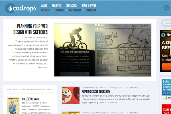 Codrops web design tutorials blog agency
