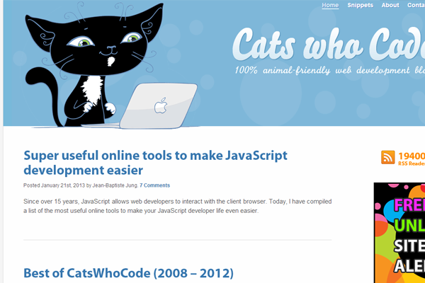 cats who code blog coding tutorials open source snippets