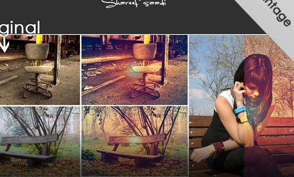 cool vintage website actions photoshop freebie