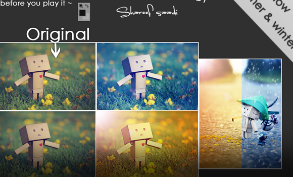summer winter photoshop layout website design
