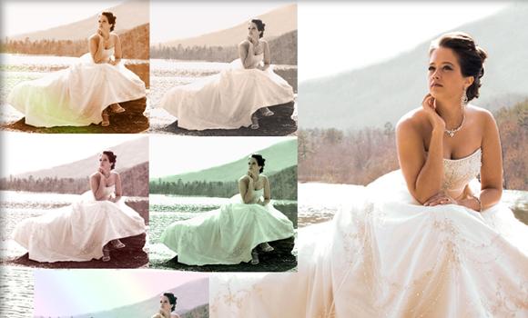 wedding photographs effects photoshop actions freebie