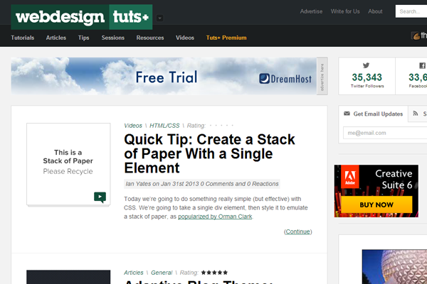 webdesign+ tuts network envato blog