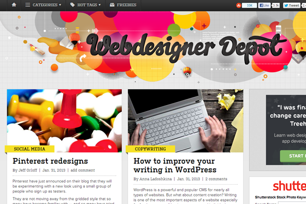 wdd web designer depot magazine blog