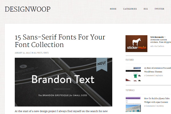 designwoop inspiration blog tutorials wordpress