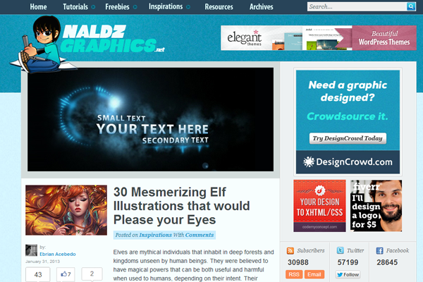 NaldzGraphics webdesign showcases roundups inspiration blog