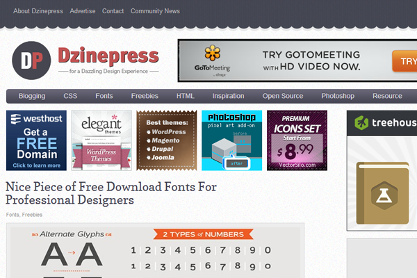 dzinepress website magazine 2013 layout inspiration