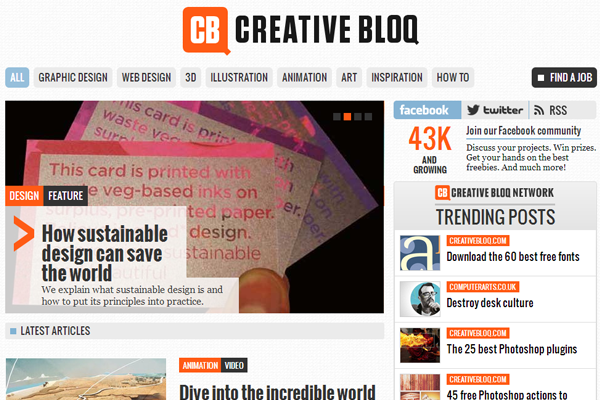 creativebloq blog website design inspiration